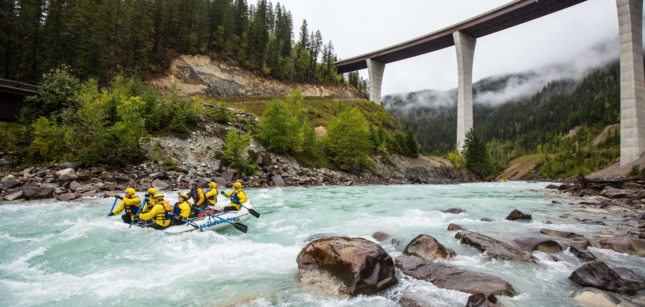 Rafting in Yoho National Park