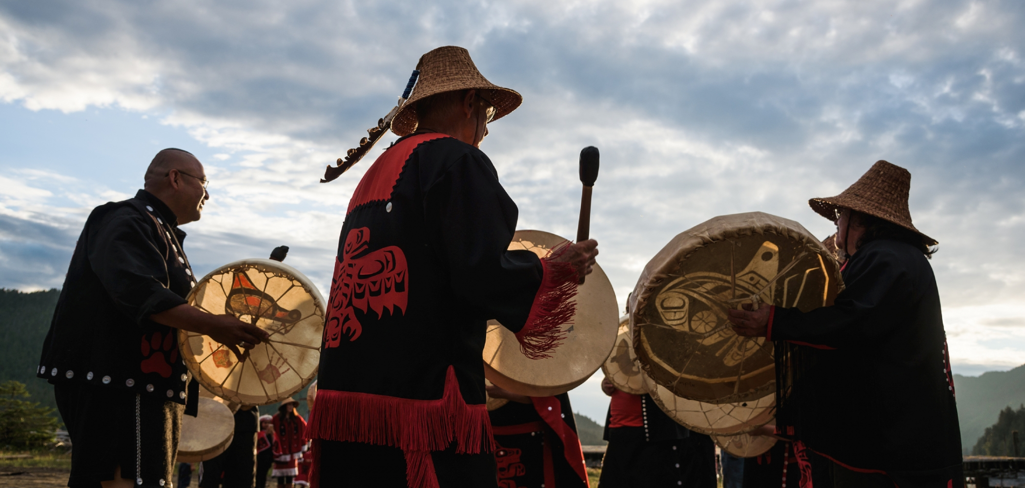 First Nations performers at Cassiar Cannery.