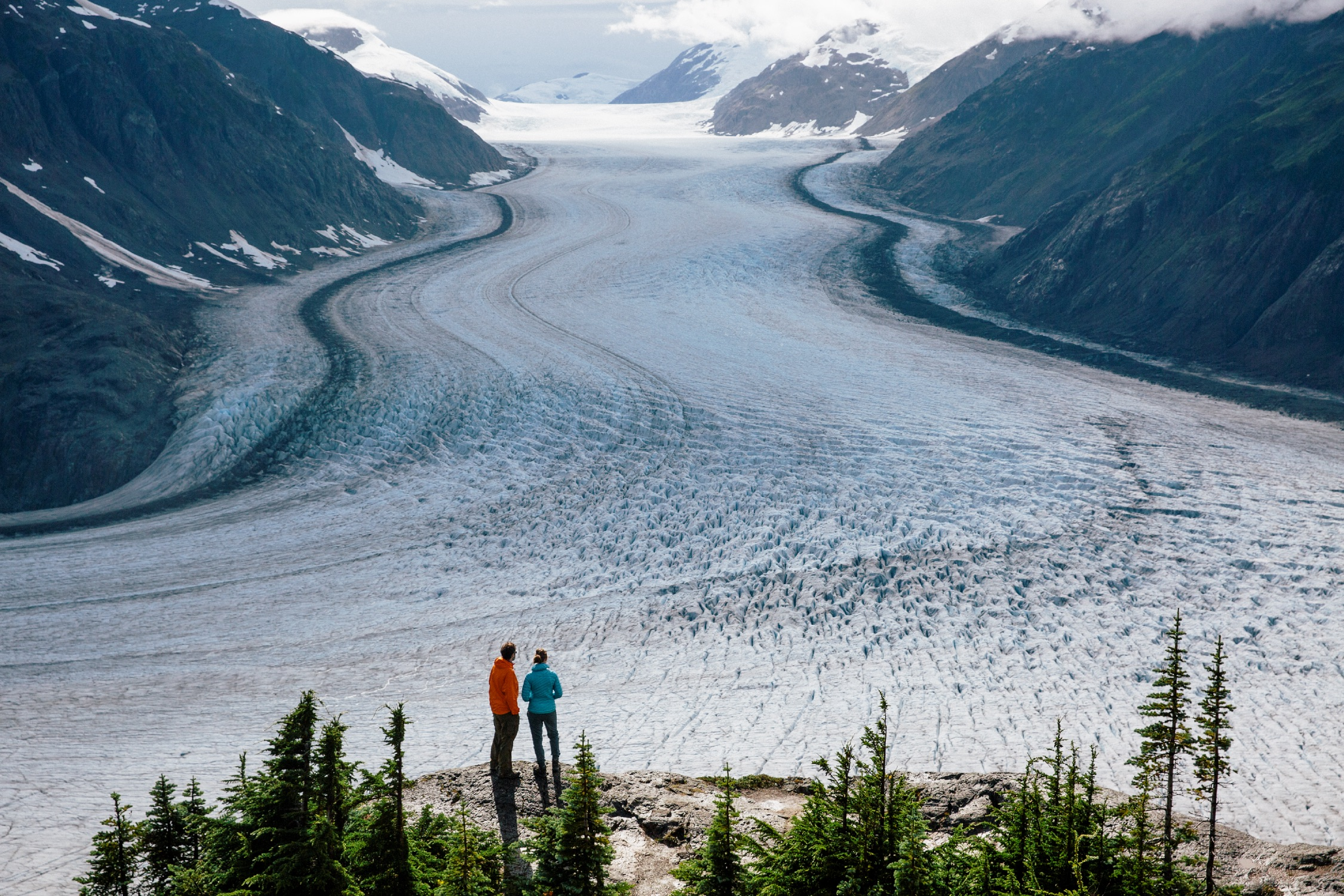 Salmon Glacier in Stewart along the Stewart-Cassiar Highway