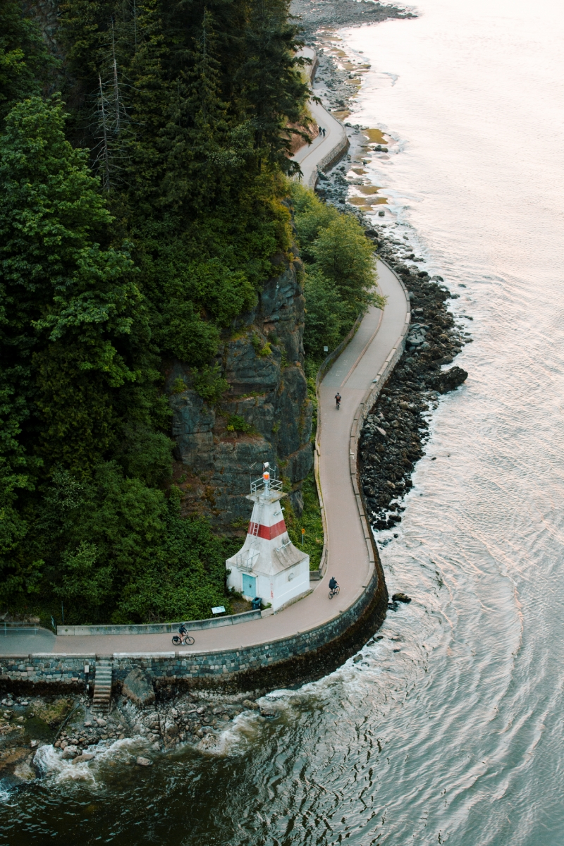The Stanley Park Seawall in Vancouver